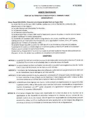 65-2020 SARL AMI – echafaudage pharmacie