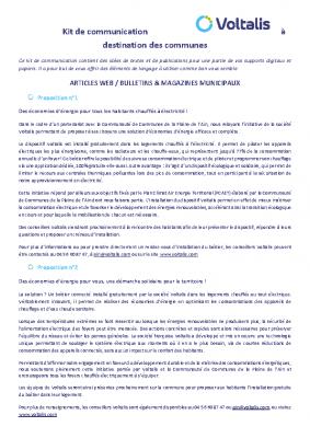 Kit de communication communes CCPA
